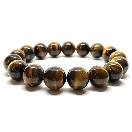 41Dr+ppmFXL - GOOD.designs Chakra Perlen-Armband aus großen Tigerauge-Natursteinen, Energiearmband aus Halbedelstein Tigerperlen (8mm)