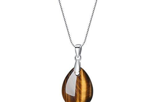 coai Damen 925s Halskette aus Edelsteine Traene der Engel Anhaenger 500x330 - coai Damen 925s Halskette aus Edelsteine Träne der Engel Anhänger (Tigerauge)